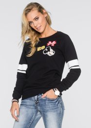 Sweatshirt mit Patches, Disney, schwarz