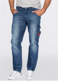 Jeans Dirty Used TAPERED, John Baner JEANSWEAR, blau