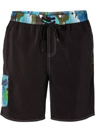 Badeshorts Herren, bpc bonprix collection, schwarz/grün