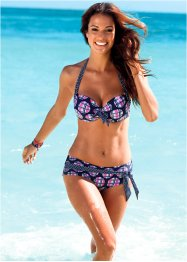 Bikinihose, bpc bonprix collection, blau/pink kariert