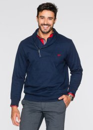 Sweatshirt mit Schalkragen Regular Fit, bpc selection, dunkelrot