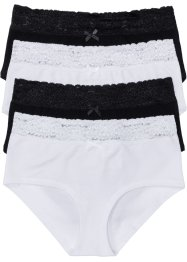 Maxipanty (4er-Pack), bpc bonprix collection, schwarz/weiß