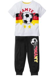 "Pyjama ""DEUTSCHLAND"" (2-tlg. Set), bpc bonprix collection, schwarz/rot/gold"