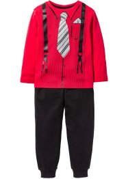 Pyjama (2-tlg. Set), bpc bonprix collection, rot/schwarz