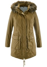2-in-1-Parka-Mantel, bpc bonprix collection, mistelgrün