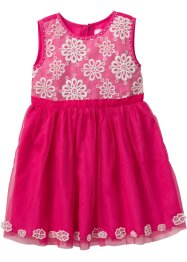 Kleid mit Tüll, bpc bonprix collection, pink