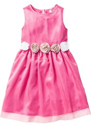 Kleid mit Blumenapplikation, bpc bonprix collection, flamingopink