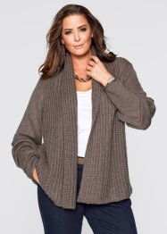 Strickjacke, bpc selection, mittelbraun melange