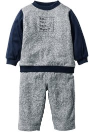 Baby Sweatshirt + Sweathose (2-tlg. Set) Bio-Baumwolle, bpc bonprix collection