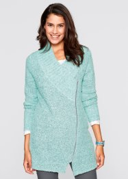 Boucle-Strickjacke, bpc bonprix collection, pastellmint