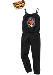 Deutschland Jumpsuit + Haarband (2-tlg.), bpc bonprix collection, schwarz