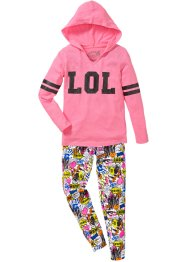 Kapuzenshirt + Leggings (2-tlg. Set), bpc bonprix collection