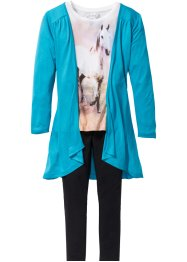 Shirt + Cardigan + Leggings (3-tlg. Set), bpc bonprix collection