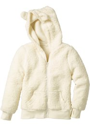 Teddyfleecejacke, bpc bonprix collection, cremeweiss