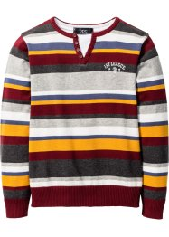 Pullover, bpc bonprix collection, bordeaux gestreift