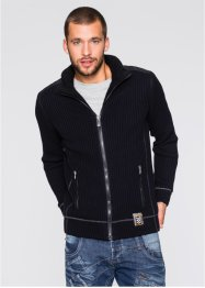 Outdoor-Strickjacke, RAINBOW, schwarz