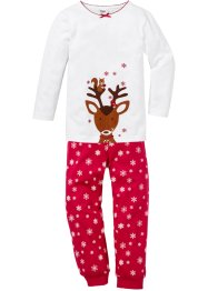 Pyjama Weihnachten (2-tlg. Set), bpc bonprix collection, weiß/rot