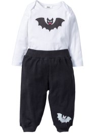 Baby Halloween Body + Shirthose (2-tlg. Set) Bio-Baumwolle, bpc bonprix collection