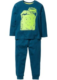 "Pyjama (2-tlg. Set) ""GLOW IN THE DARK"", bpc bonprix collection, blaupetrol"