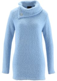 Flauschpullover, bpc selection, eisblau