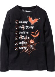 Langarmshirt Halloween, bpc bonprix collection, schwarz
