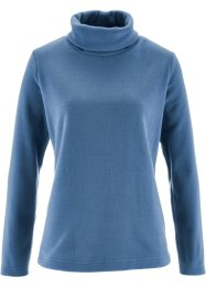 Fleece-Rollkragenshirt, bpc bonprix collection, jeansblau