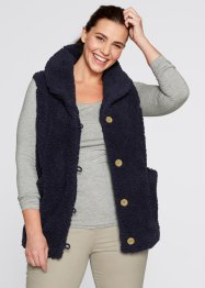 Teddy-Fleece-Weste, bpc bonprix collection, dunkelblau