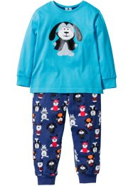 Pyjama (2-tlg. Set), bpc bonprix collection, türkis/mitternachtsblau