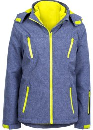 3-in-1-Outdoorjacke, bpc bonprix collection, blau meliert