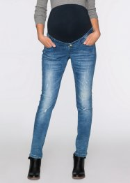 Umstandsjeans im Destroyed-Look Skinny, bpc bonprix collection, blue stone