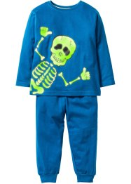 "Pyjama ""Glow in the dark"" (2-tlg. Set), bpc bonprix collection, blau / Skelett"
