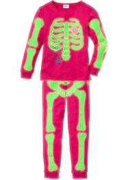 "Pyjama ""GLOW IN THE DARK"" (2-tlg. Set) Halloween, bpc bonprix collection, dunkelpink"