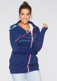 Sweatjacke, bpc bonprix collection, mitternachtsblau