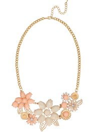 Collier Blumen, bpc bonprix collection, goldfarben/roségoldfarben