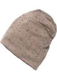 Beanie mit dunklen Strass-Steinen, bpc bonprix collection