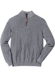 Troyer-Pullover Regular Fit, bpc selection, grau meliert
