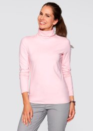 Basic Baumwollshirt Stretch-Jersey, bpc bonprix collection, weiss