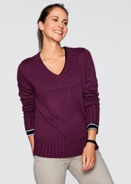 V-Pullover, bpc bonprix collection, dunkelblau