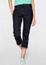 Figurformende 7/8-Stretch-Jeans, bpc bonprix collection, dark denim