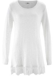 Langarm-Pullover mit Spitze, bpc bonprix collection