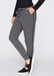 Sweatpants - designt von Maite Kelly, bpc bonprix collection, grau meliert/dunkelblau