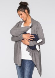 Umstands- und Stillponcho/Strickjacke, bpc bonprix collection, grau meliert