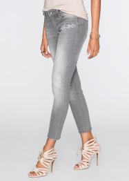 Jeans mit Stickerei, BODYFLIRT, light grey denim