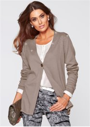 Strickjacke aus Pima Cotton, bpc selection premium, taupe