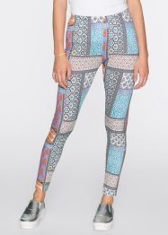 Leggings, bunt, RAINBOW, blau/orange gemustert
