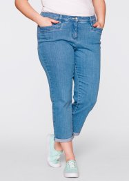 Figurformende 7/8-Stretch-Jeans, bpc bonprix collection, medium blue bleached