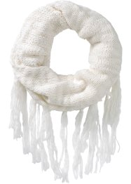 Strickloop mit Fransen, bpc bonprix collection, creme
