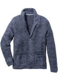 Strickblazer Regular Fit, bpc bonprix collection, dunkelblau meliert