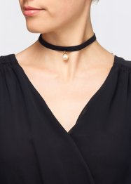 4-tlg. Choker Set, bpc bonprix collection, schwarz/goldfarben