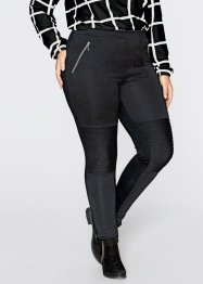 Leggings im Bikerlook - designt von Maite Kelly, bpc bonprix collection, hellgrau meliert